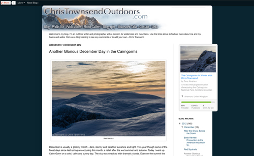 Chris Townsend Outdoors website