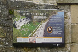 St Bridget's Kirk interpretation panel